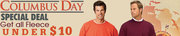 Columbus Day Special Deal Get all Fleece under $10