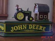 John Deere cast iron bank